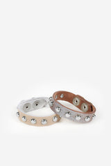 Sheena Studded Leather Bracelet - JAKIMAC  - 3
