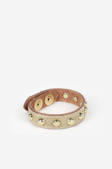 Sheena Studded Leather Bracelet - JAKIMAC  - 4