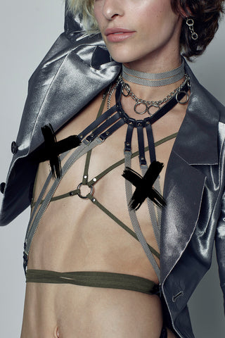 METAL MESH HALTER HARNESS