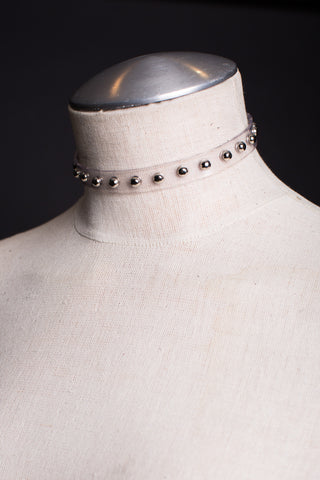 SHEENA Studded Choker Necklace - VEGAN PVC