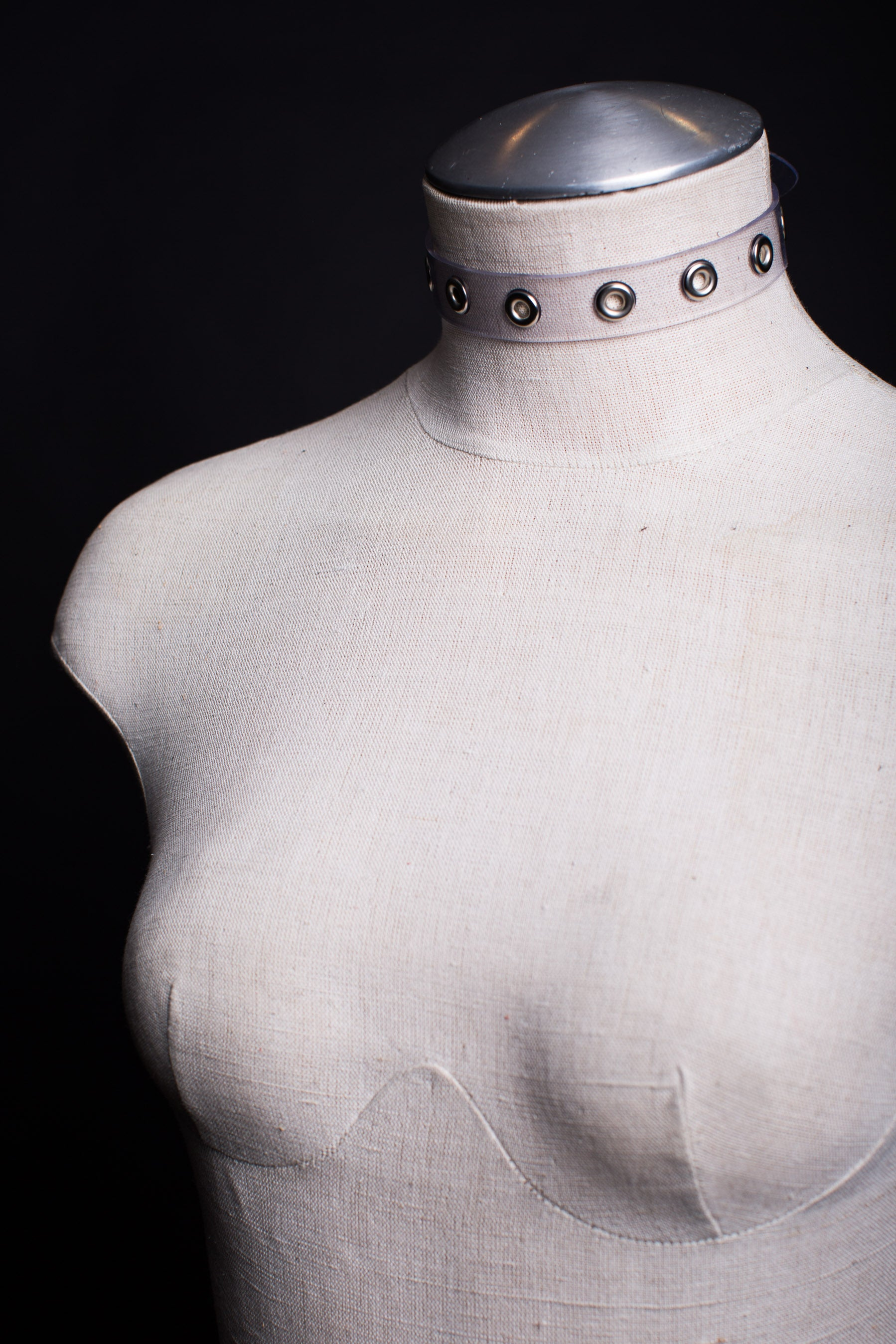 VEGAN PVC Grommet Choker Necklace