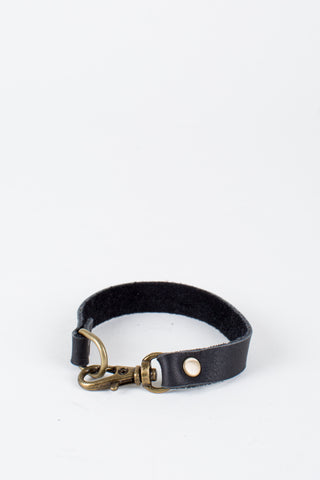Slim Leather Clasp Bracelet