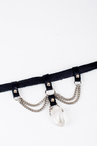 Layered Chain and Quartz Choker