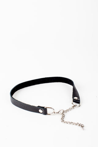 BILLIE Slim Leather Strip Choker