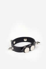 Sid Studded Leather Bracelet - JAKIMAC  - 2