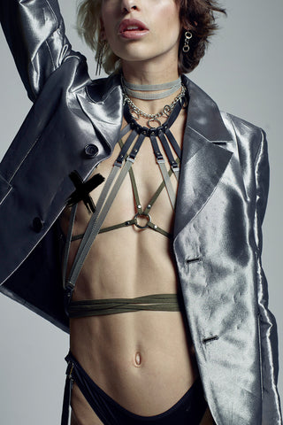 VEGAN Infinity Leather Body Wrap Harness