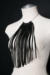 Warrior Leather Fringe Necklace - JAKIMAC  - 1