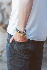 Clasp Leather Bracelet - JAKIMAC