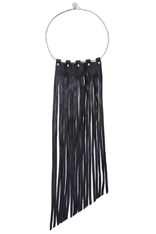Warrior Leather Fringe Necklace