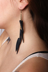 Layered Leather Earrings - JAKIMAC  - 2