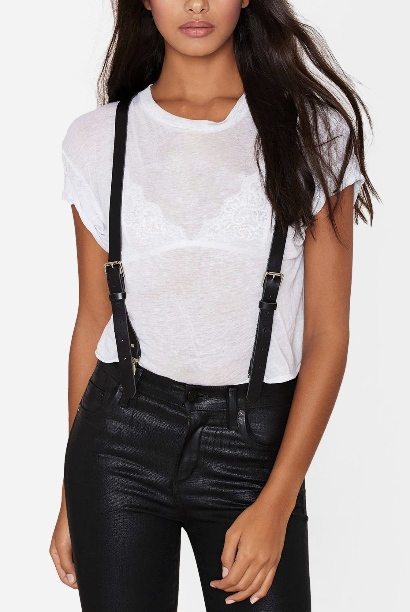 84fee20e5 Leather Suspenders for Women by JAKIMAC