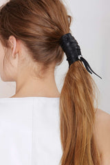 BELLE Leather Pony Tail Wrap - JAKIMAC  - 4