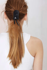 BELLE Leather Pony Tail Wrap - JAKIMAC  - 5