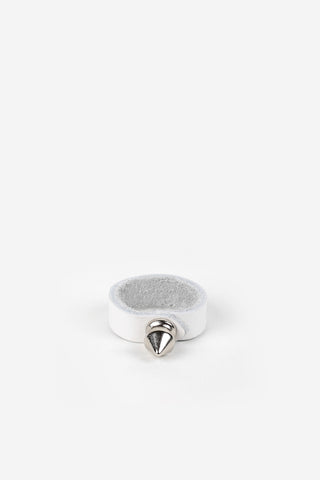 Sid Studded Ring - White