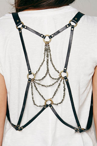 Dreamer Pyrite Draped Harness