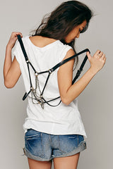 Dreamer Pyrite Draped Harness - JAKIMAC