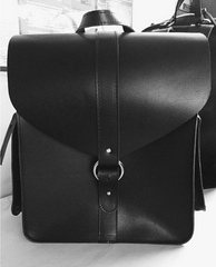 Hunter Leather Structured Backpack - JAKIMAC