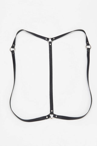 Simple Drape Harness in Black/Silver