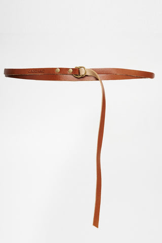 Mary Jane Skinny Leather Wrap Belt