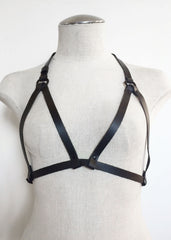 Bastet Leather Cage Bra - JAKIMAC  - 2