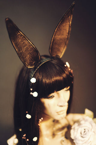JAK HARE Leather Bunny Ears