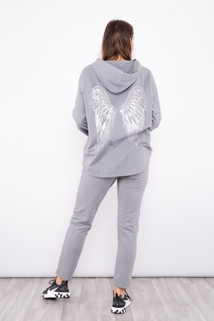 Hoodie Co Ord With Wing Design