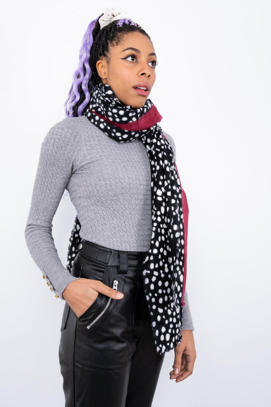 Dotted Print Scarf