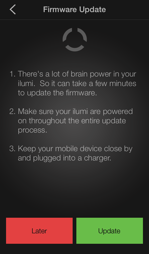 iOS and Android App and Firmware Update Available – ilumi