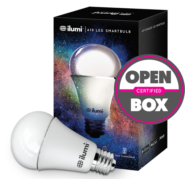 A19 LED Color Smart Light Bulb - Certified Open Box - smart light bulbs