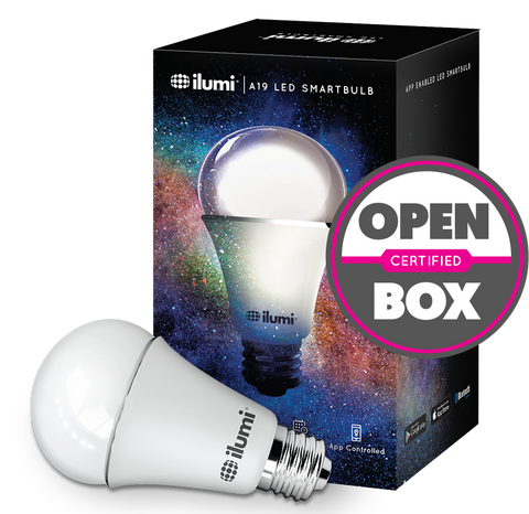 A19 LED Adjustable Color Smart Light Bulb - Certified Open Box