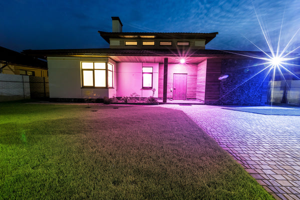 pink outdoor lighting