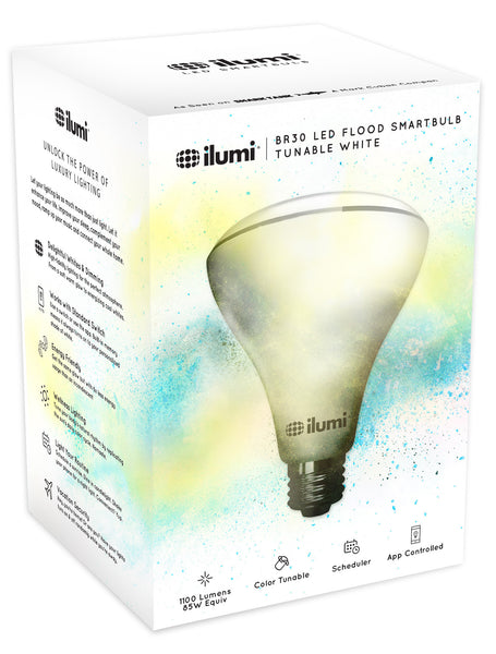 Adjustable White BR30 Flood LED Smart Light Bulb - smart light bulbs