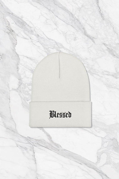 'BLESSED' beanie