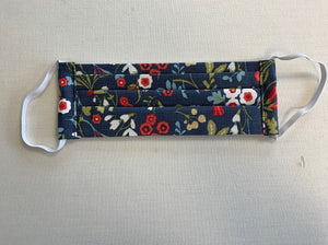 Navy Floral Non-Medical Face Covering