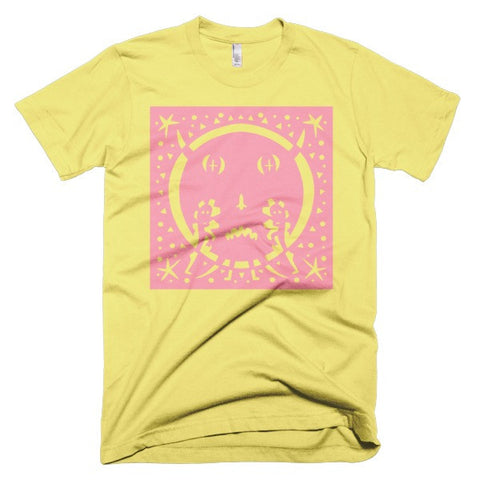 Jad Fair - Yellow/Pink Moon Monster Unisex Tee