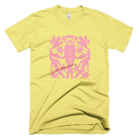Jad Fair - Ha Ha Yellow/Pink Unisex Tee
