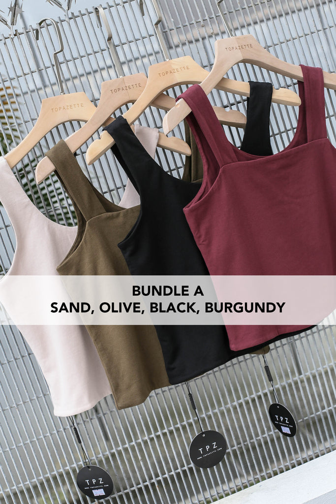 OLIVIA REVERSIBLE BASIC TOP (BUNDLE A)