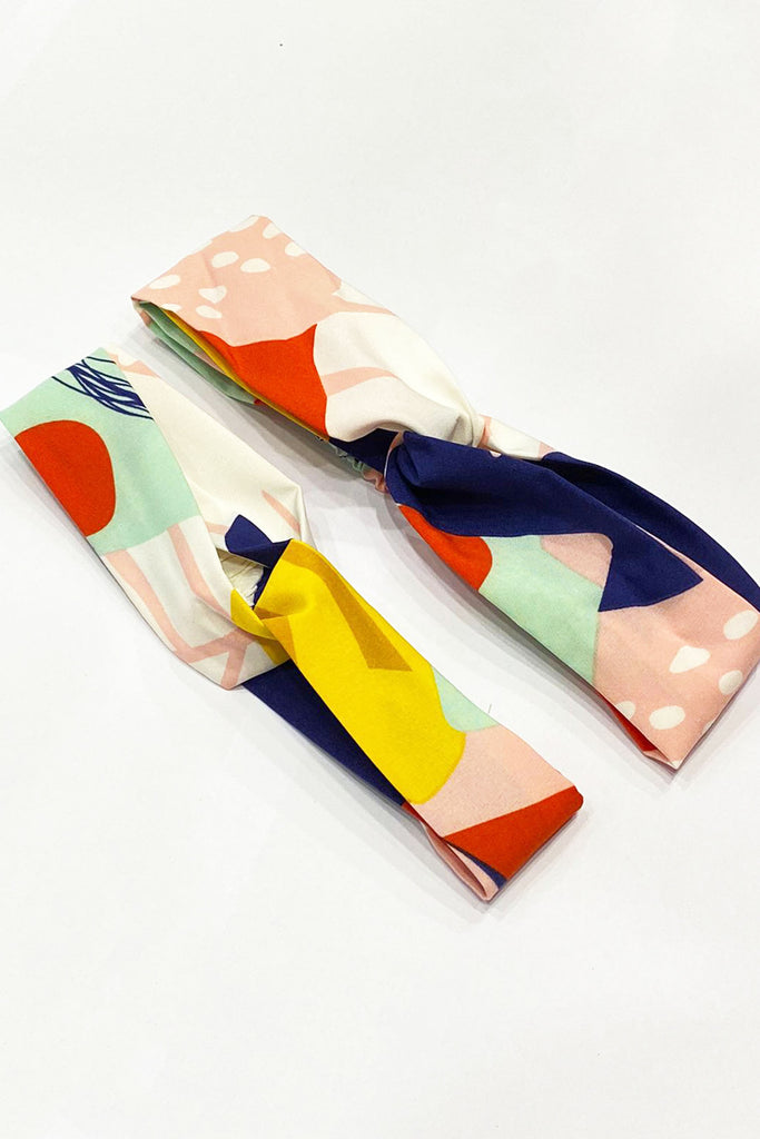 *LITTLE TOPAZETTE* THE COLOUR PLAY ABSTRACT COLLECTION HEADBAND (ADULT/ KIDS) - TOPAZETTE