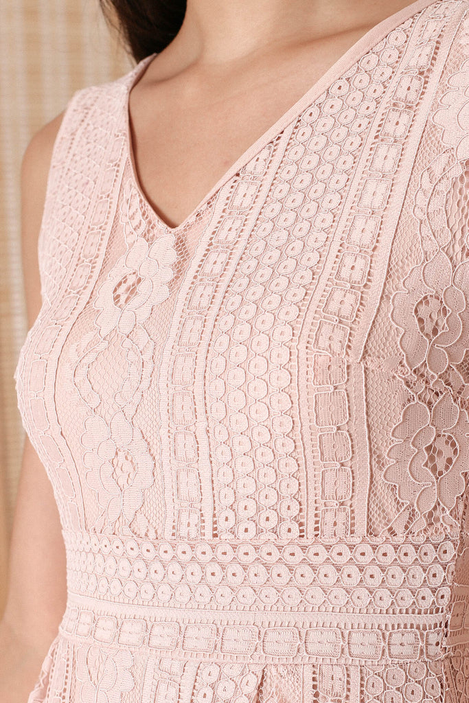 *TPZ* QIANA LACE MAXI IN BABY PINK