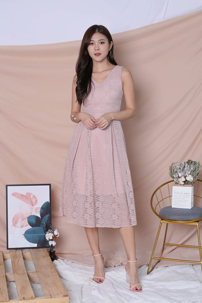 *TPZ* (PREMIUM) YUDEL LACE DRESS IN DUSTY PINK - TOPAZETTE