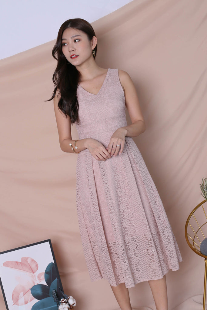 *TPZ* (PREMIUM) YUDEL LACE DRESS IN DUSTY PINK