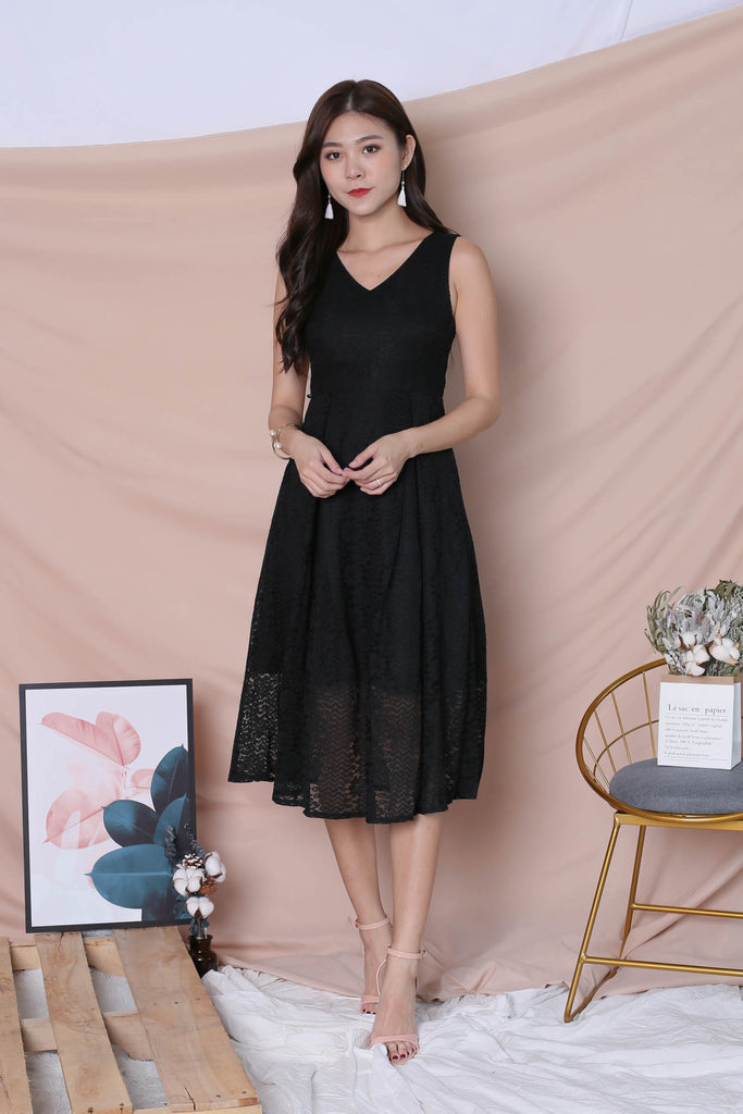 *TPZ* (PREMIUM) YUDEL LACE DRESS IN BLACK