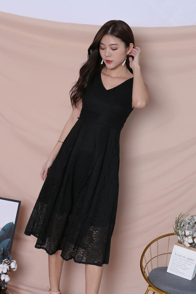 *TPZ* (PREMIUM) YUDEL LACE DRESS IN BLACK - TOPAZETTE