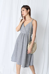 FINDELL STRIPES DRESS IN GREY