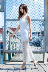 WILD AND FREE LACE DRESS IN WHITE