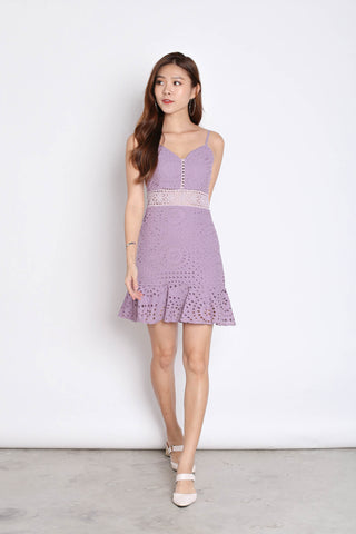 *TPZ* (PREMIUM) FERLYN EYELET DRESS IN LAVENDER