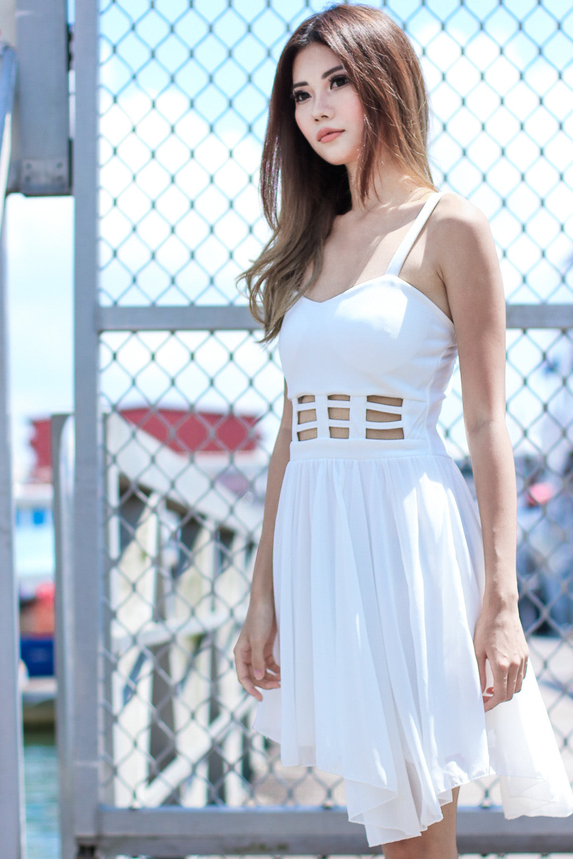 METADOR DRESS IN WHITE - TOPAZETTE
