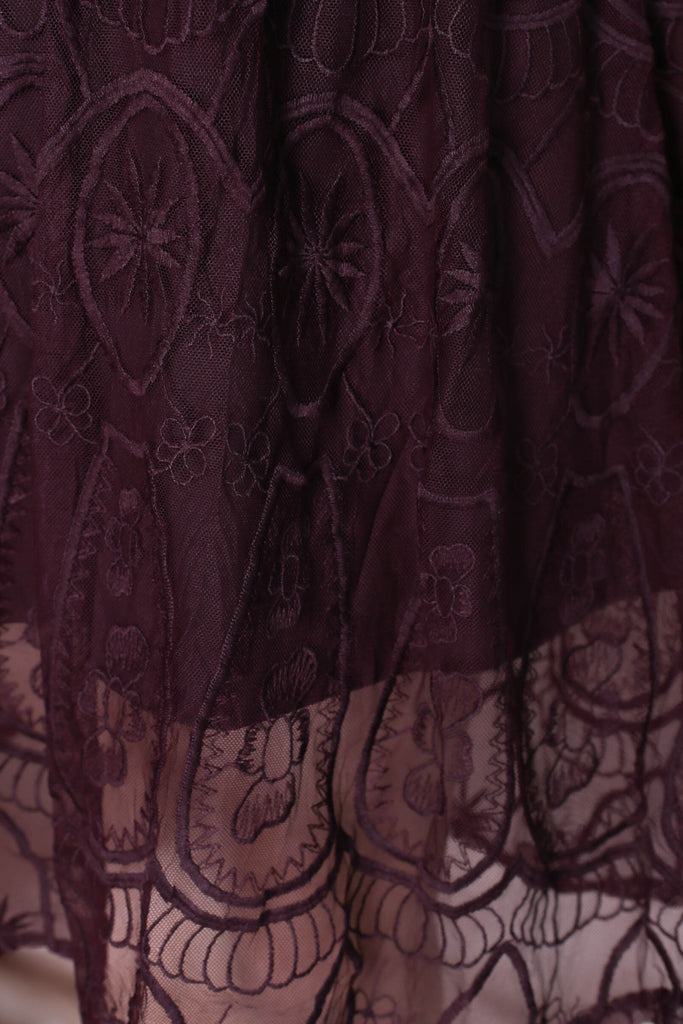 *TPZ* (PREMIUM) KASIA ORGANZA LACE DRESS IN PLUM - TOPAZETTE