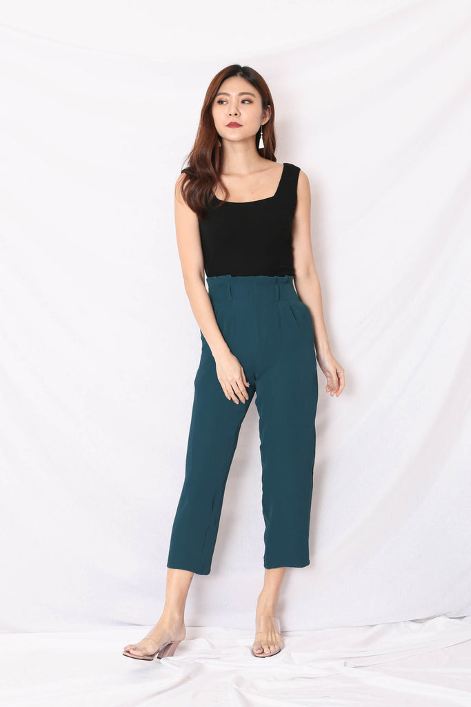 *TPZ* (PREMIUM) ORA PAPERBAG PANTS IN FOREST