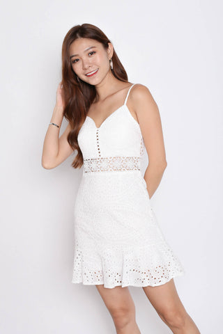 *TPZ* (PREMIUM) FERLYN EYELET DRESS IN WHITE